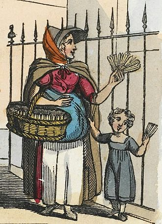 Tinderbox - A London street seller of matches for tinderboxes in 1821