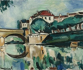 Maurice de Vlaminck - Le pont de Poissy, c.1910, oil on canvas, 46.4 x 54.9 cm