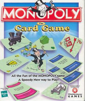 Monopoly: The Card Game - A German version of Monopoly in progress