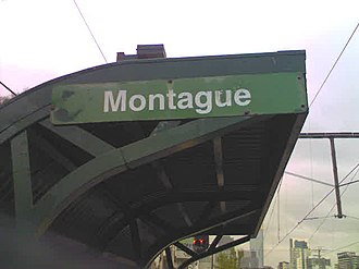 Metropolitan Transit Authority (Victoria) - Standard MTA style signage at Montague station