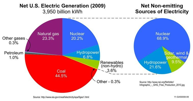 Net US Electric Generation for 2009