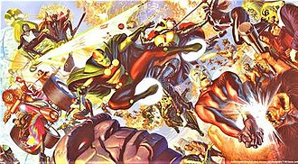 New Gods - Artwork of the New Gods, Magnificent Seven Art by Alex Ross