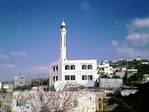 Immatain - The newly built mosque and minaret