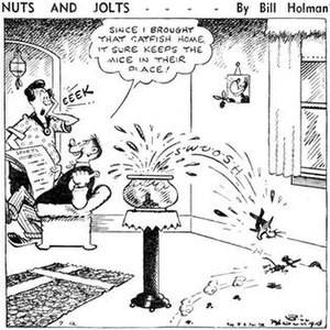 Bill Holman (cartoonist) - Bill Holman's Nuts and Jolts (July 12, 1940)