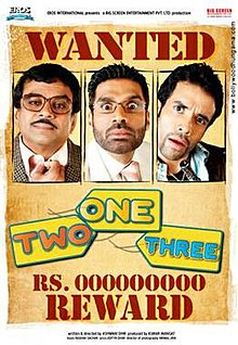 One Two Three (2008) DM - Tushar Kapoor, Paresh Rawal, Suniel Shetty, Esha Deol, Sameera Reddy, Upen Patel, Neetu Chandra and Tanisha