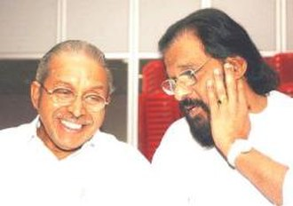 K. J. Yesudas - Yesudas with poet and lyricist O. N. V. Kurup