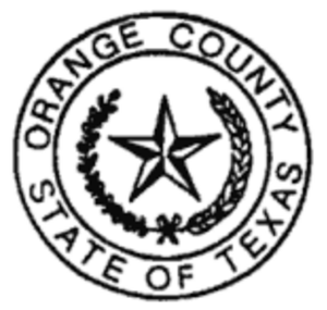 Orange County, Texas - Image: Orange County, Texas seal