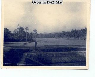 Oyoor village in Kerala, India