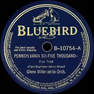 Pennsylvania 6-5000 (song) - 1940 RCA Victor  Bluebird 78, B-10754-A, by Glenn Miller.