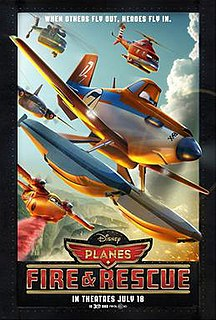 <i>Planes: Fire & Rescue</i> 2014 animated Pixar film directed by Roberts Gannaway