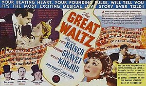 The Great Waltz (1938 film) - Image: Poster of the movie The Great Waltz