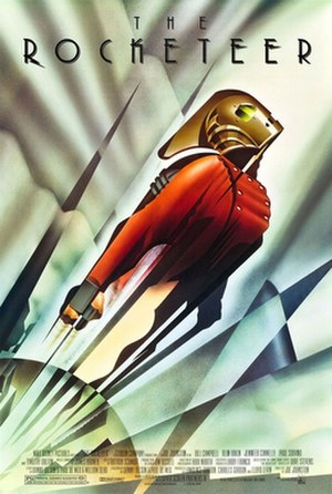 The Rocketeer (film) - Art Deco-style advance teaser poster