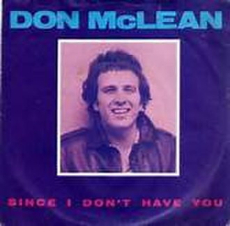 Since I Don't Have You - Image: Since I Don't Have You Don Mc Lean