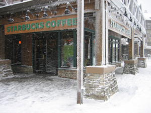 Snowshoe Mountain - Starbucks in the Snowshoe Village.