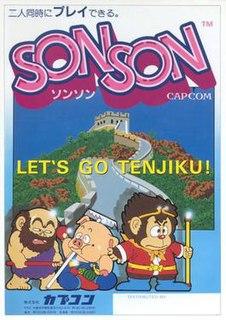 <i>SonSon</i> 1984 video game