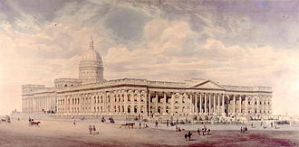 National Gallery of Victoria - Nicholas Chevalier's unrealised 1860 vision for the National Gallery next to the State Library building