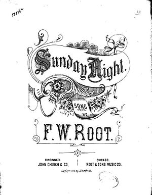 "Ida Red - ""Sunday Night"", by F.W. Root, 1878, provided some of the lyrics for the Bob Wills version of ""Ida Red""."