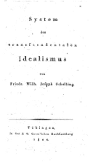 System of Transcendental Idealism - Image: System des transcendentalen Idealismus