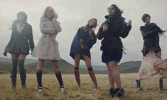 "My Heart Takes Over - The Saturdays in the music video for ""My Heart Takes Over"" (2011)"