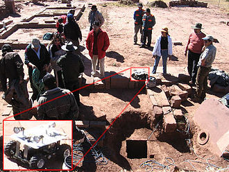 Tiwanaku - Robotic exploration of a newly discovered tunnel in the Akapana pyramid, June 13, 2006