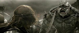 Troll (Middle-earth) - One of the Olog-hai approaches Aragorn in The Return of the King.