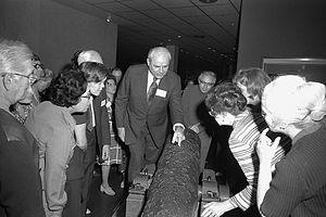 Mendel L. Peterson - Peterson leads members of National Associates on tour of the underwater archeology exhibits, 1972