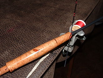 Fly rod building - unfinished rod and winding tool