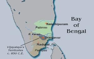 Vijayalaya Chola - Vijayalaya's Territories c. 850 CE