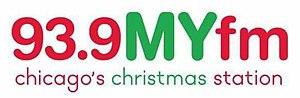 WLIT-FM - Image: WLIT FM 93.9 M Yfm Christmas logo