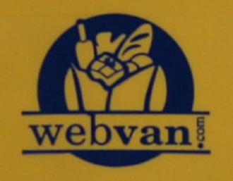 Webvan - Webvan logo as seen on an orphaned shipping bin