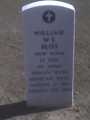 William Wallace Smith Bliss - Gravestone of William Bliss, Fort Bliss National Cemetery