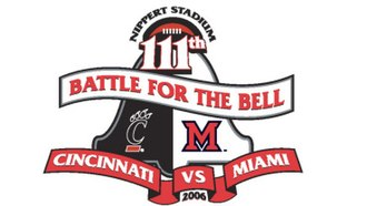 Victory Bell (Cincinnati–Miami) - Image: 111th Battle For The Bell