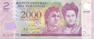 Adela and Celsa Speratti - Mislabeled bank note, features Adela Speratti and Concepción Silva de Airaldi, not Adela and Celsa.