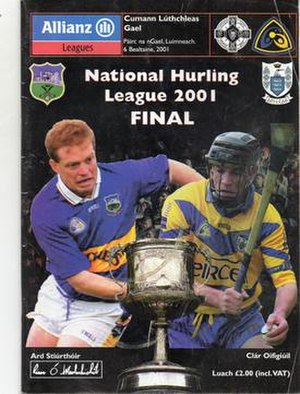 2001 National Hurling League - Image: 2001 National Hurling League Final programme