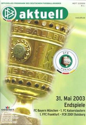 2003 DFB-Pokal Final - Image: 2003 DFB Pokal Final programme