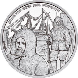 Julius von Payer - The Admiral Tegetthoff Ship and The Polar Expedition commemorative coin