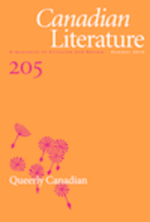Canadian Literature (journal) - Image: 205canlitcover