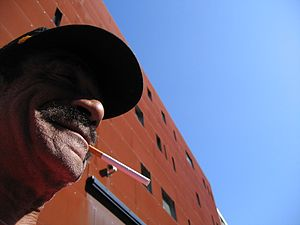 Andre Williams - Andre Williams in front of Paard, The Hague, The Netherlands, 2005