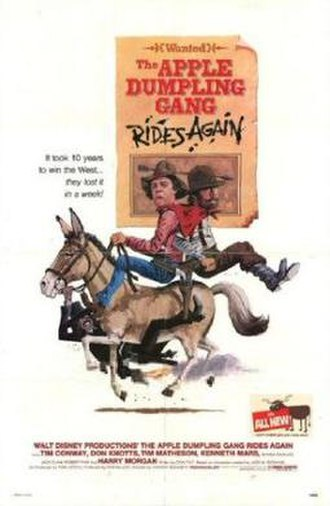 The Apple Dumpling Gang Rides Again - Promotional poster