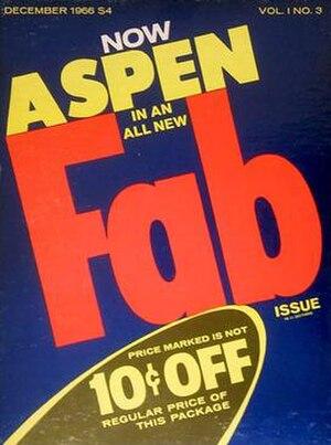 Aspen (magazine) - Aspen, volume 1 issue 3, 1966, designed by Andy Warhol and David Dalton.