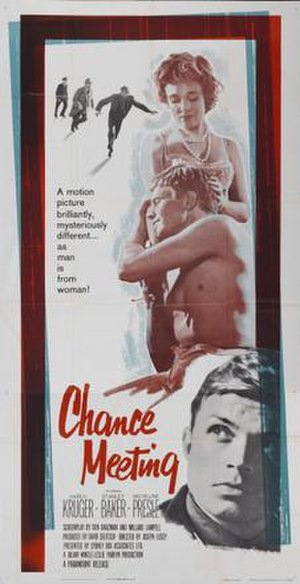 Blind Date (1959 film) - A film poster bearing the U.S. title: Chance Meeting