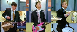 Always (Blink-182 song) - The song's music video features a unique split screen technique, seen here.