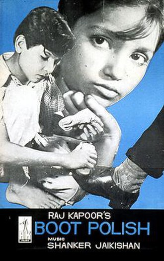 Boot Polish (film) - Film poster with photograph