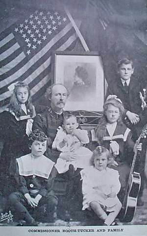 Frederick Booth-Tucker - Booth-Tucker with his family after his wife's death (c.1903)