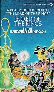<i>Bored of the Rings</i> Parody of J. R. R. Tolkiens The Lord of the Rings by the Harvard Lampoon