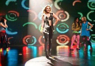 Twister (game) - Pop singer Britney Spears promoting an exclusive version of the game in 2012