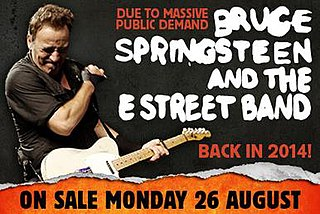 High Hopes Tour concert tour by Bruce Springsteen and the E Street Band