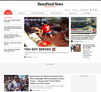 BuzzFeed News website screenshot