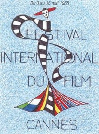 1965 Cannes Film Festival - Official poster of the 18th Cannes Film Festival