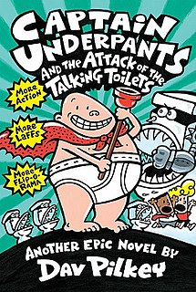 <i>Captain Underpants and the Attack of the Talking Toilets</i> book by Dav Pilkey